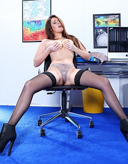 Secretary in sexy Bootees!